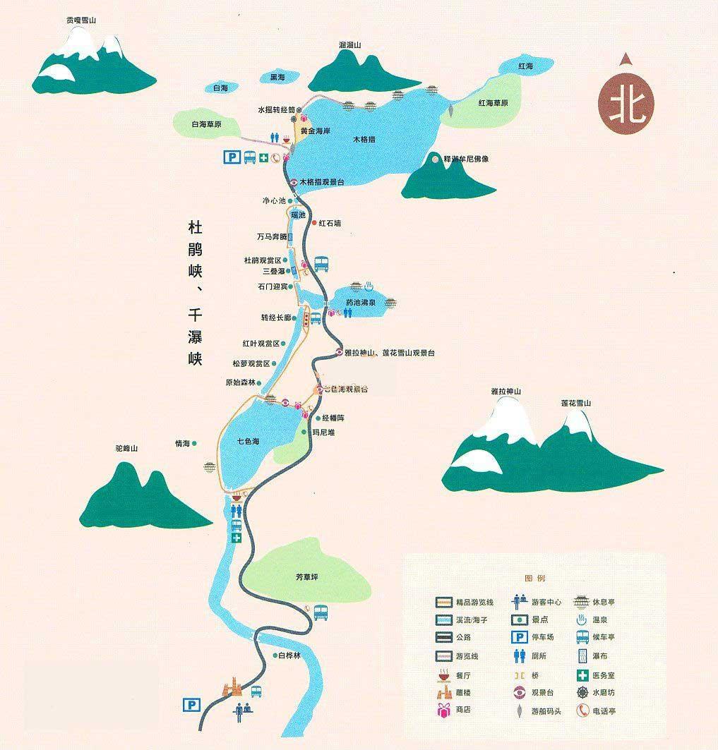 木格措旅游地图-川藏线租车俱乐部